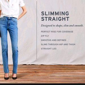 Levi's slimming straight s 28 dark blue jeans